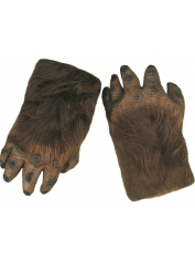 Brown Furry Gloves - Halloween Costume Accessories