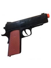 Diecast Automatic Pistol Realistic Blk