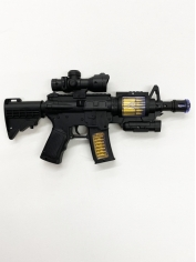 Army Gun Black with light - Plastic Toys