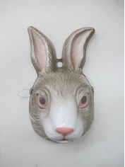 Large Rabbit Mask - Plastic Animal Mask