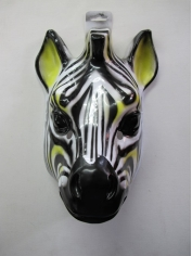 Large Zebra - Animal Plastic Masks