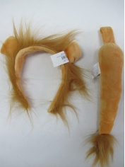Deluxe Lion with Tail - Animal Headband