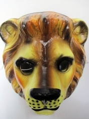 Lion Mask - Plastic Animal Mask