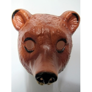 Bear Mask - Plastic Animal Mask