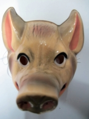 Pig Mask - Plastic Animal Mask