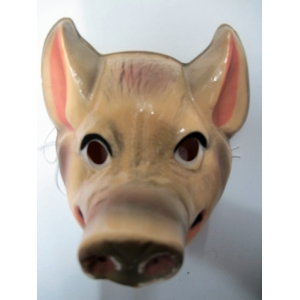 Pig Mask - Plastic Animal Mask