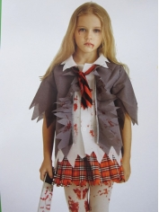 Zombie Schoolgirl - Halloween Children Costumes