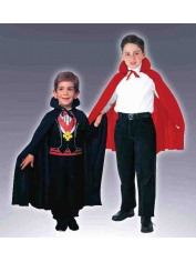 Children Black/Red Cape - Children Costumes