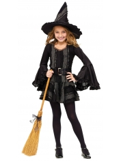 Deluxe Black Witch - Halloween Children Costumes