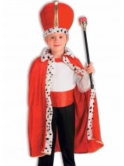 King Robe and Crown Set - Children Costume