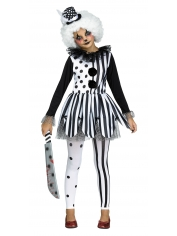 Girl Killer Clown - Halloween Children Costumes