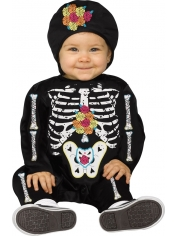 Baby Bones - Infant Toddler Day of the Dead Costumes