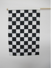 Black and White Small Checkered Flag