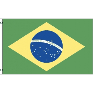 Brazil 5ft x 3ft Polyester Flag - Country Flags