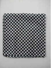 Black White Checkered Bandana
