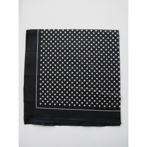 Black with White Dots Bandana
