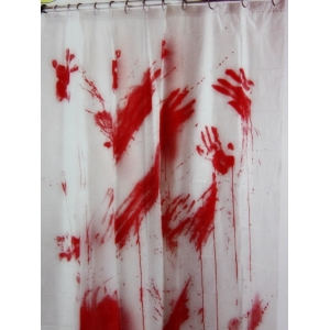 Bloody Shower Curtain - Halloween Decorations
