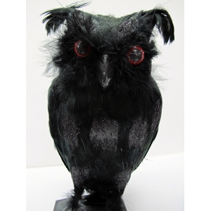 Black Owl (Large) - Halloween Decorations