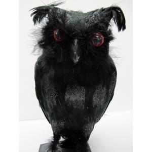 Black Owl (Large) - Halloween Decorations
