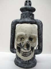 Light-Up Skull Lantern - Halloween Decorations