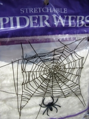 Stretch Spider Web (white) - Halloween Decorations