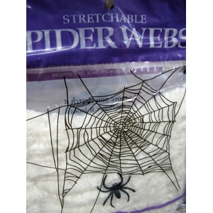Stretch Spider Web (white) - Halloween Decorations