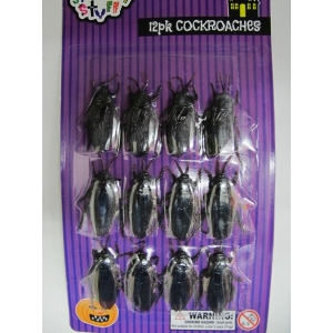 Pack Of Small Cockroaches - Halloween Decorations
