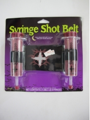 Syringe Shot Belt In Red - Halloween Decorations