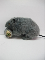 Grey Furry Rat - Halloween Decorations