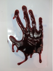 3D Bloody Handprint - Halloween Decorations