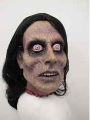 Served Head With Hair - Halloween Decorations