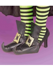 Witch Shoe Covers Gold - Halloween Costumes