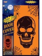 Light Up Door Cover - Skull