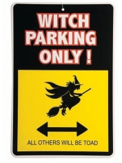 Warning Sign-Witch Parking - Halloween Decorations