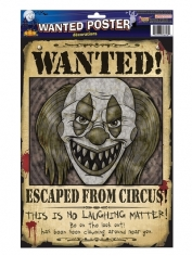 Wanted Poster Clown - Halloween Decorations