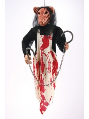 Hanging Butcher Pig - Halloween Decorations