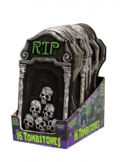 Foam Tombstone Mixed - Halloween Decorations