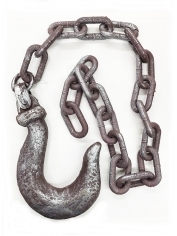 Jumbo Rusted Hook On Chain - Halloween Decorations