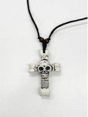 Skull Cross Necklace - Halloween Decorations