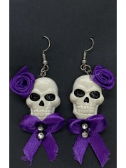 Skull Earrings - Halloween Decorations