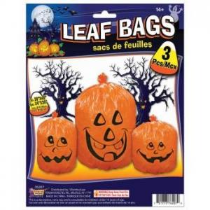 Large Pumpkin LEAF BAGS - Halloween Decorations