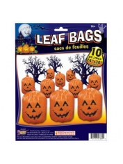 Small Pumpkin LEAF BAGS - Halloween Decorations