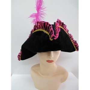 Pirate Hat Felt with Pink Trim