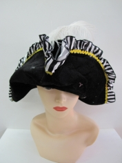Pirate Hat Felt with White Trim