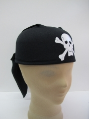 Black Pirate Cap - Hat