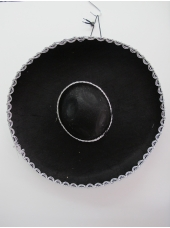 Black Mexican Hat with Silver Trim