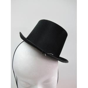 Black Satin Mini Top Hat