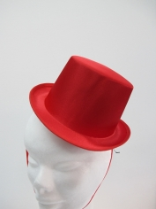 Red Satin Mini Top Hat