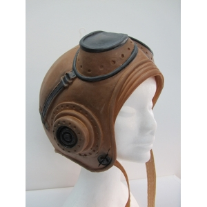 Latex Pilot Aviator Hat With Goggles