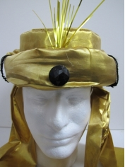 Gold Turban with Jewelry - Hats